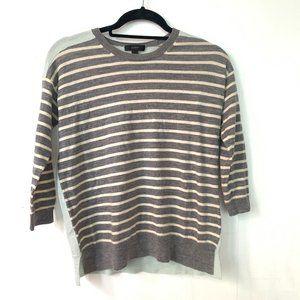 J. Crew Merino Striped Sweater w/ Mint Back Panel